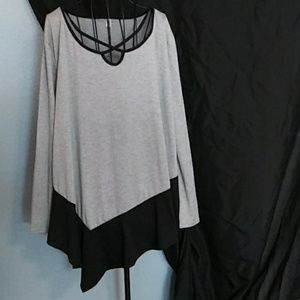 Tops - NWOT flare-sleeve blouse